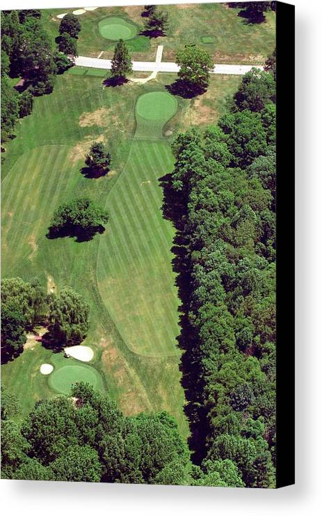 Philadelphia Cricket Club Canvas Print featuring the photograph Philadelphia Cricket Club St Martins Golf Course 6th Hole 415 West Willow Grove Ave Phila Pa 191118 by Duncan Pearson