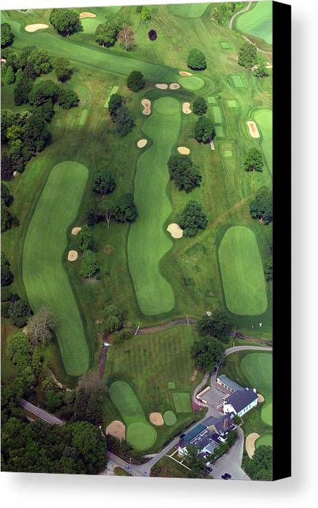 Philadelphia Cricket Club Canvas Print featuring the photograph Philadelphia Cricket Club Wissahickon Golf Course 1st Hole by Duncan Pearson
