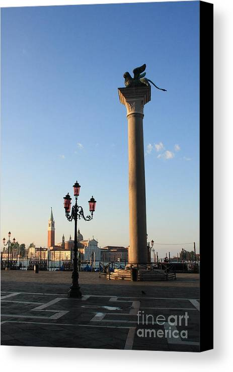 Venice Canvas Print featuring the photograph Piazetta San Marco In Venice In The Morning II by Michael Henderson