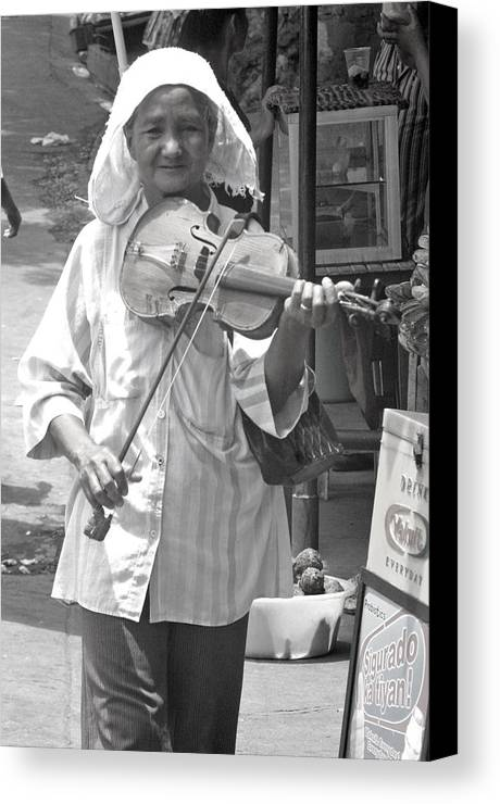 Photographer Canvas Print featuring the photograph Playing For Food by Jez C Self