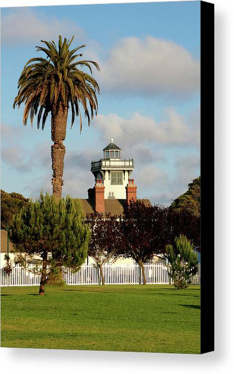 Point Fermin Lighthouse Canvas Print featuring the photograph Point Fermin Light - San Pedro - Southern California by Christine Till