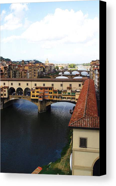 Florence Canvas Print featuring the photograph Ponte Vechio Florence by Mathew Lodge