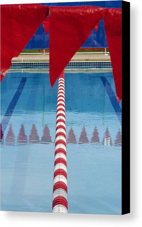 Flag Canvas Print featuring the photograph Pool by Skip Hunt