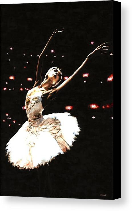 Prima Ballerina Canvas Print featuring the painting Prima Ballerina by Richard Young