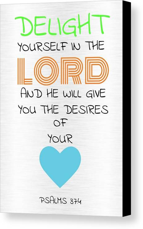 Canvas Print featuring the photograph Psalms 374 by Avery French