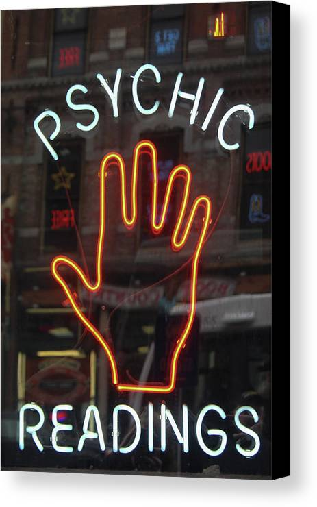 Psychic Readings Canvas Print featuring the photograph Psychic Readings by Heidi Brandt