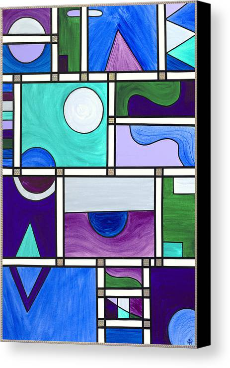 Abstract Canvas Print featuring the painting Purple-blue-green Abstract 1 by Patty Vicknair