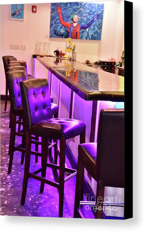 Purple Canvas Print featuring the photograph Purple Electric by Lisa Renee Ludlum