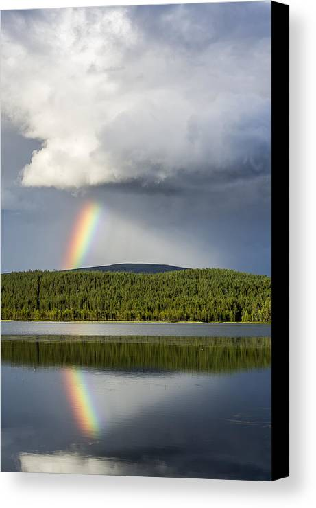 Rainbow Canvas Print featuring the photograph Rainstick by Markus Kiili