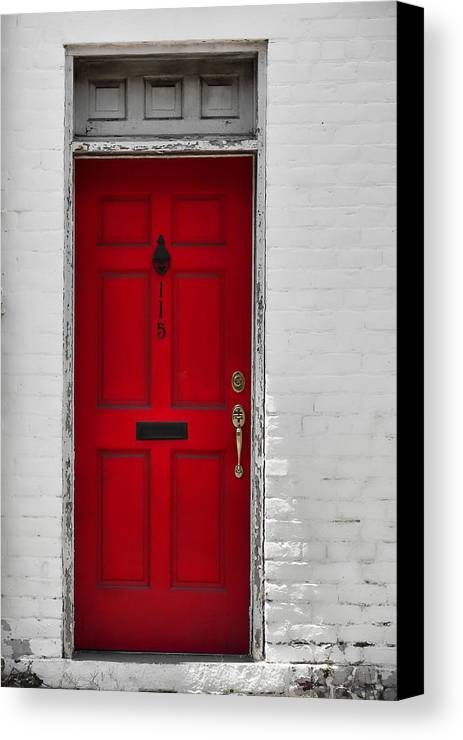 Red Canvas Print featuring the photograph Red Door by JAMART Photography