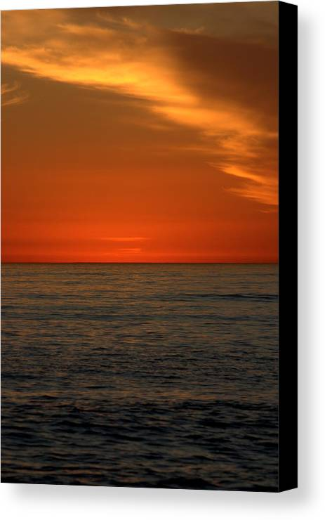 Sunset Canvas Print featuring the photograph Red Sunset by Brad Scott