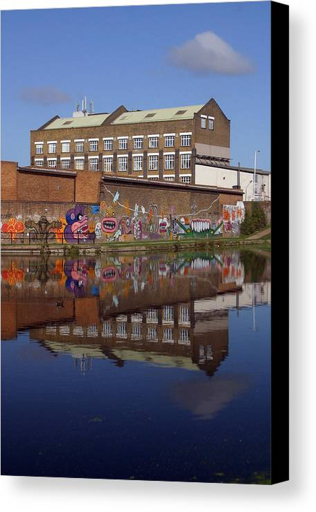 Jez C Self Canvas Print featuring the photograph Refective Canal 2 by Jez C Self