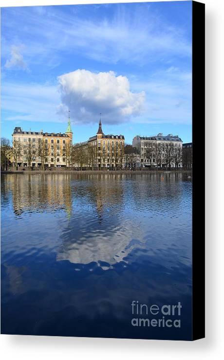 Copenhagen Canvas Print featuring the photograph Reflections by Eva Maria Nova