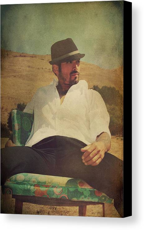 Man Canvas Print featuring the photograph Relax And Stay A While by Laurie Search