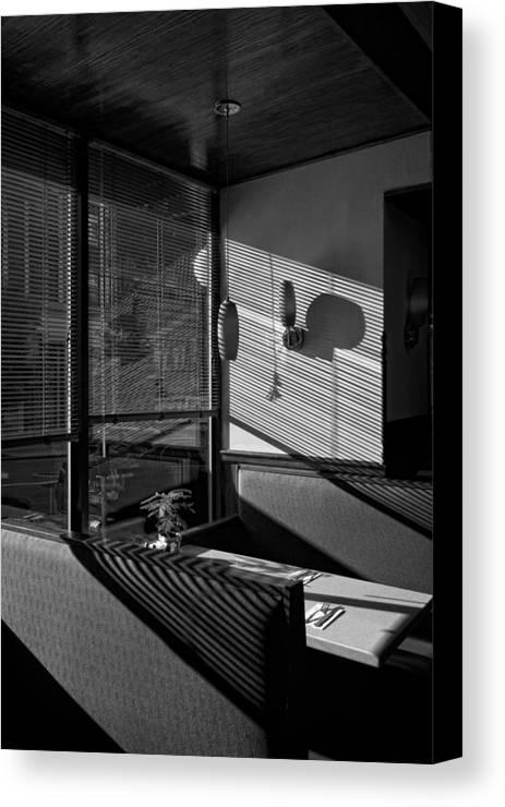Restaurant Canvas Print featuring the photograph Restaurant Late Afternoon by Robert Ullmann