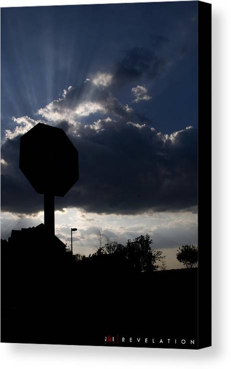 Sky Canvas Print featuring the photograph Revelation by Jonathan Ellis Keys