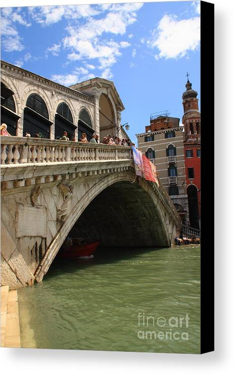 Venice Canvas Print featuring the photograph Rialto Bridge In Venice by Michael Henderson
