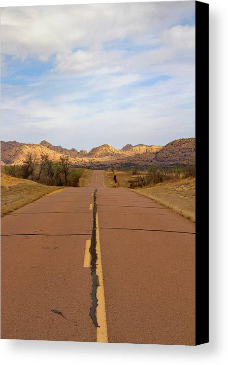 Road Canvas Print featuring the photograph Road To Dreams by Winter Hoad