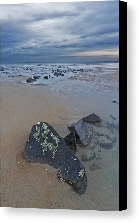 New England Canvas Print featuring the photograph Rocks And Barnacles, Plum Island by Scott Snyder