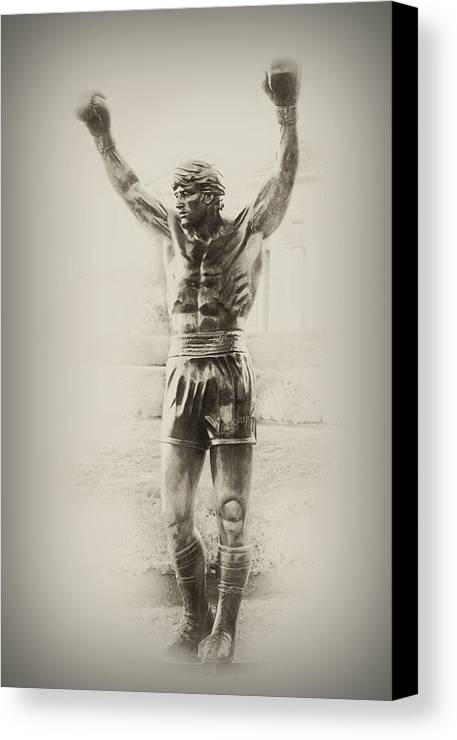 Rocky Balboa Canvas Print featuring the photograph Rocky by Bill Cannon