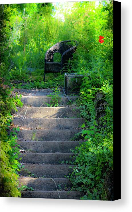 Garden Canvas Print featuring the photograph Romantic Garden Scene by Teresa Mucha