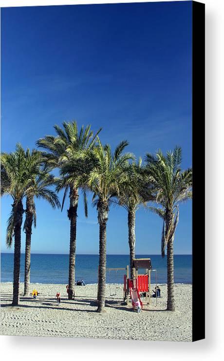 Photographer Canvas Print featuring the photograph Roquettas 26 by Jez C Self