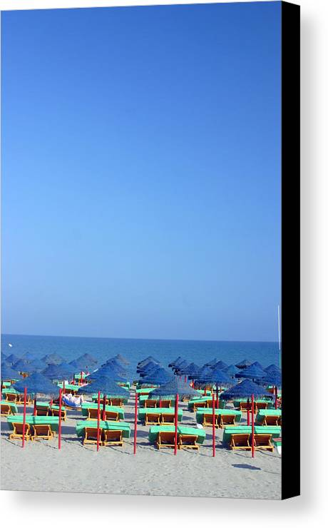 Photographer Canvas Print featuring the photograph Roquettas 83 by Jez C Self