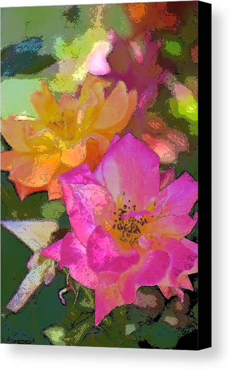 Floral Canvas Print featuring the photograph Rose 114 by Pamela Cooper