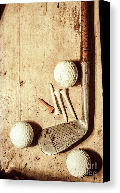 Rustic Golf Club Memorabilia Canvas Print / Canvas Art by Jorgo ...