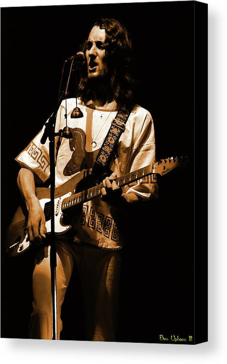 Classic Rock Canvas Print featuring the photograph S#33 Enhanced In Amber by Ben Upham
