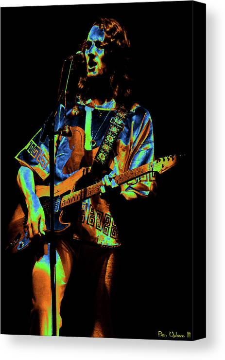 Classic Rock Canvas Print featuring the photograph S#33 Enhanced In Cosmicolors by Ben Upham