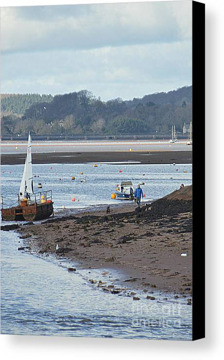 Yacht Canvas Print featuring the photograph Sail Boat by Andy Thompson