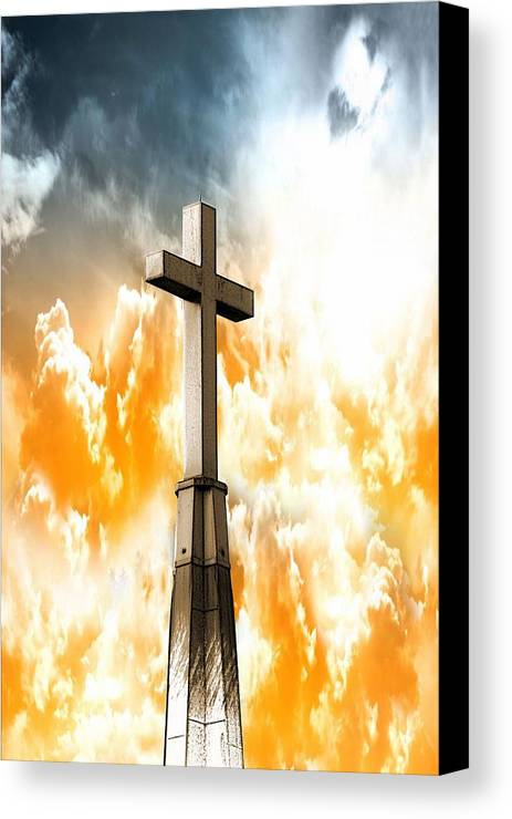 Cross Canvas Print featuring the photograph Salvation by Aaron Berg