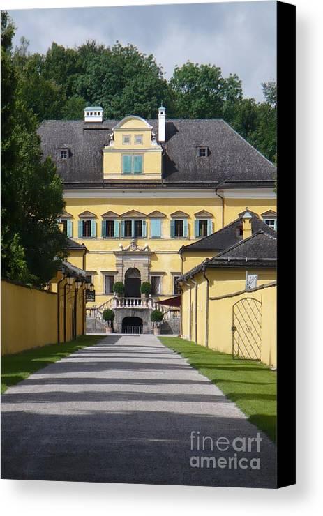 Austria Canvas Print featuring the photograph Salzburg Chateau by Carol Groenen