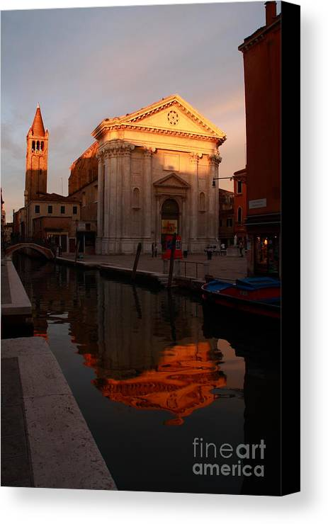 Venikce Canvas Print featuring the photograph San Barnaba by Michael Henderson