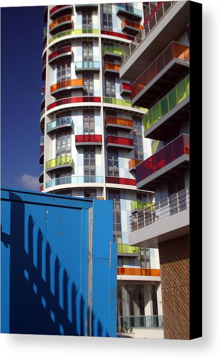 Jez C Self Canvas Print featuring the photograph Scattered Colured Living by Jez C Self