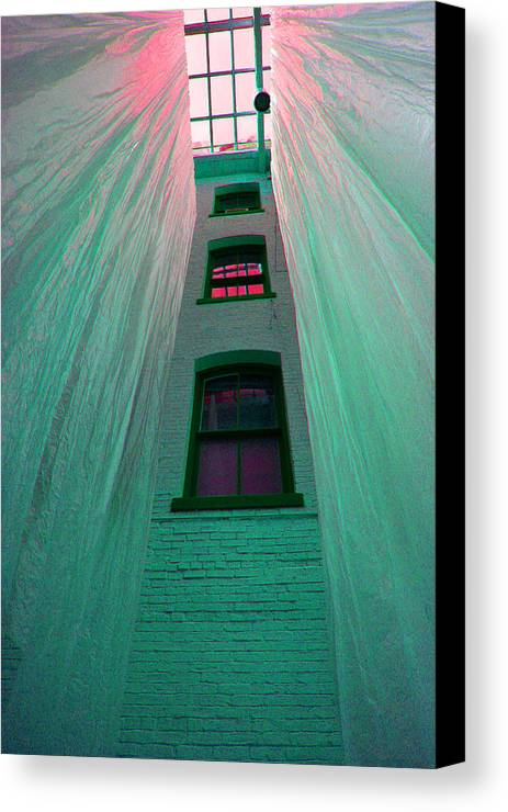 Architecture Canvas Print featuring the photograph Sealed In Plastic by Deborah Napelitano