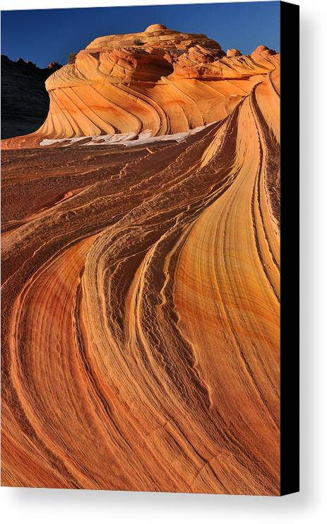 Coyote Buttes North Canvas Print featuring the photograph Second Wave, Coyote Buttes North by Dean Hueber