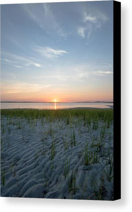 Beach Canvas Print featuring the photograph Shinnecock Bay Sunrise by Julie Waldner