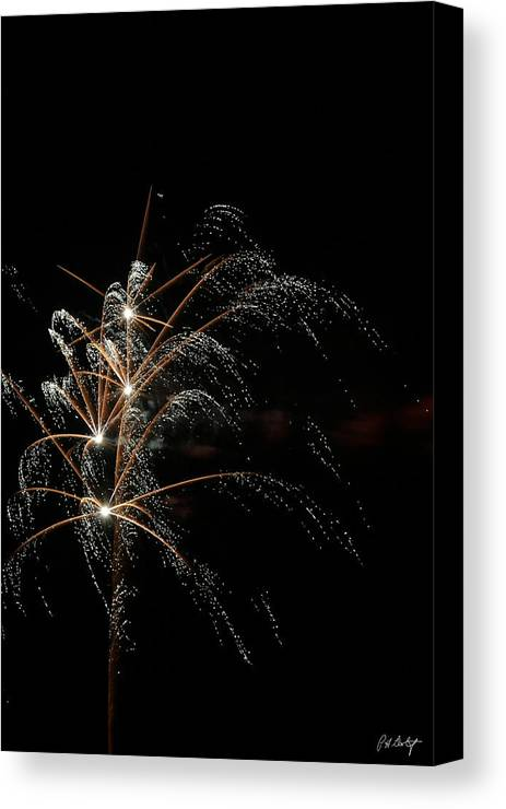 July 4th Canvas Print featuring the photograph Shooting Stars by Phill Doherty