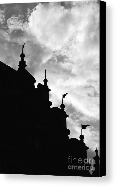 Silhouette Canvas Print featuring the photograph Silhouette Of The Roof In Rothenburg Germany by Hideaki Sakurai
