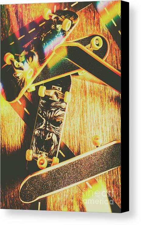 Skateboarding Tricks And Flips Canvas Print / Canvas Art by Jorgo ...