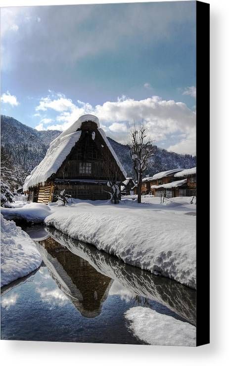 Snow Canvas Print featuring the photograph Snowy House by Kean Poh Chua