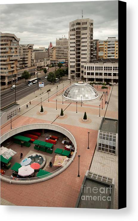 Iasi Canvas Print featuring the photograph Socialistic Town Planning by Christian Hallweger