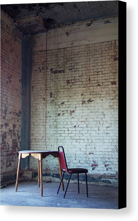 Chair Canvas Print featuring the photograph Solitary by Winter Hoad