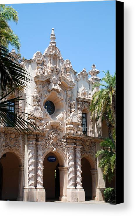 Building Canvas Print featuring the photograph Spanish Influence by Mark Wiley