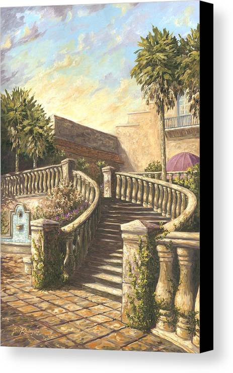 Steps Canvas Print featuring the painting Spanish Springs by Jose Rodriguez