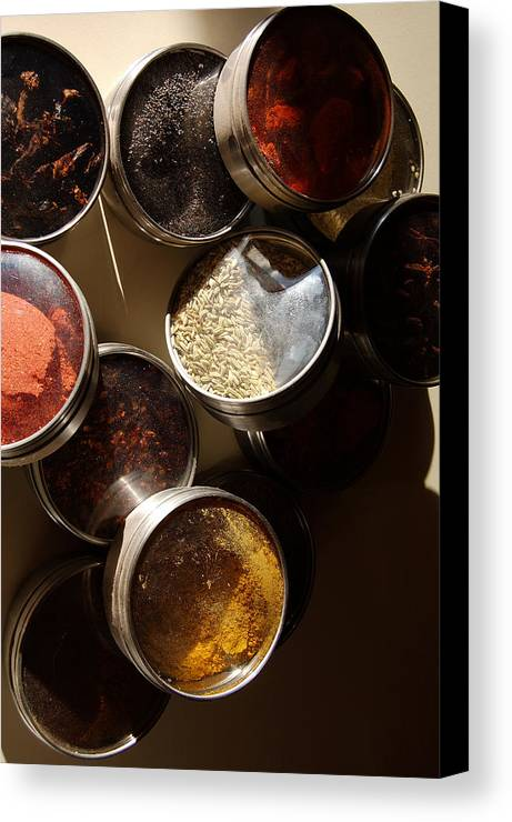 Photography Canvas Print featuring the photograph Spices by Heather S Huston
