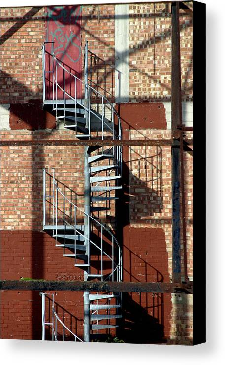Jez C Self Canvas Print featuring the photograph Spiral Up Or Down by Jez C Self