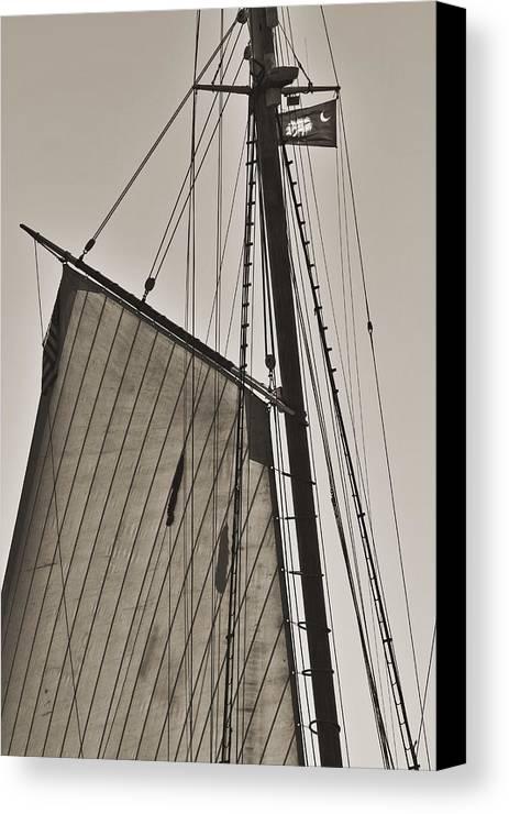 Spirit Of South Carolina Canvas Print featuring the photograph Spirit Of South Carolina Schooner Sailboat Sail by Dustin K Ryan